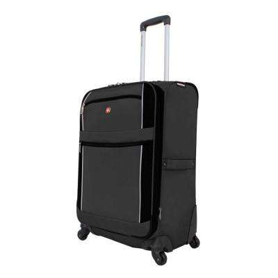 24 in. Upright Spinner Suitcase in Charcoal and Black