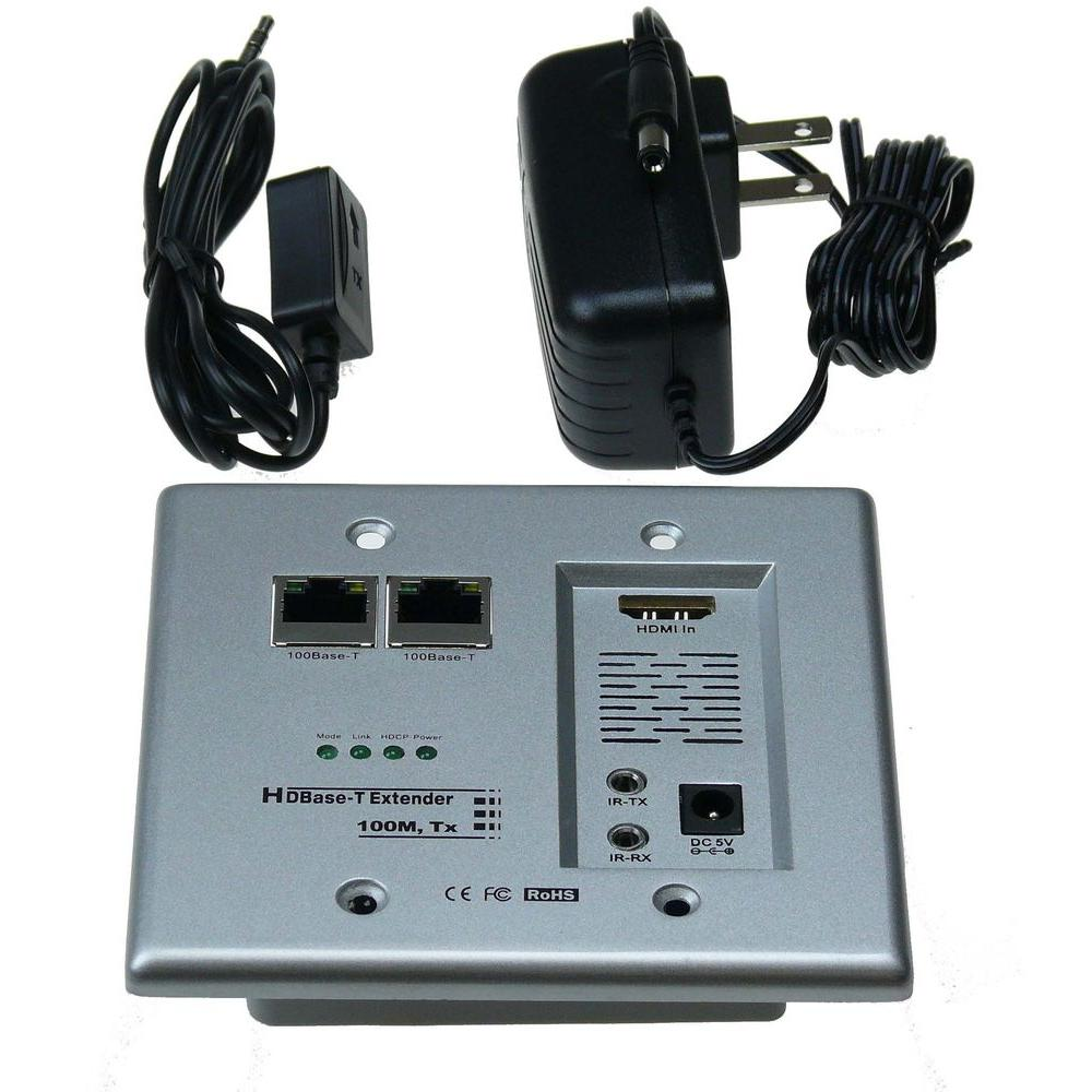 HDBase-T Hdmi and Networking Wall Plate Extender with Cat...