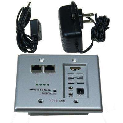 HDBase-T HDMI and Networking Wall Plate Extender with Cat5e/6 Ready