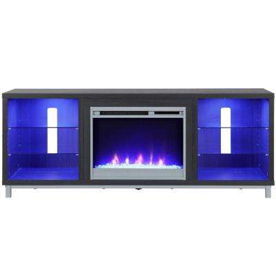 Cleaveland Espresso 70 in. TV Stand with Fireplace