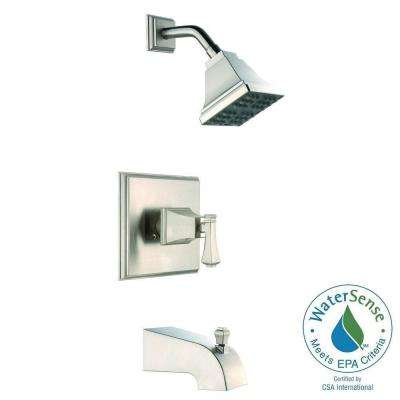Exhibit WaterSense Single-Handle 1-Spray Tub and Shower Faucet in Brushed Nickel