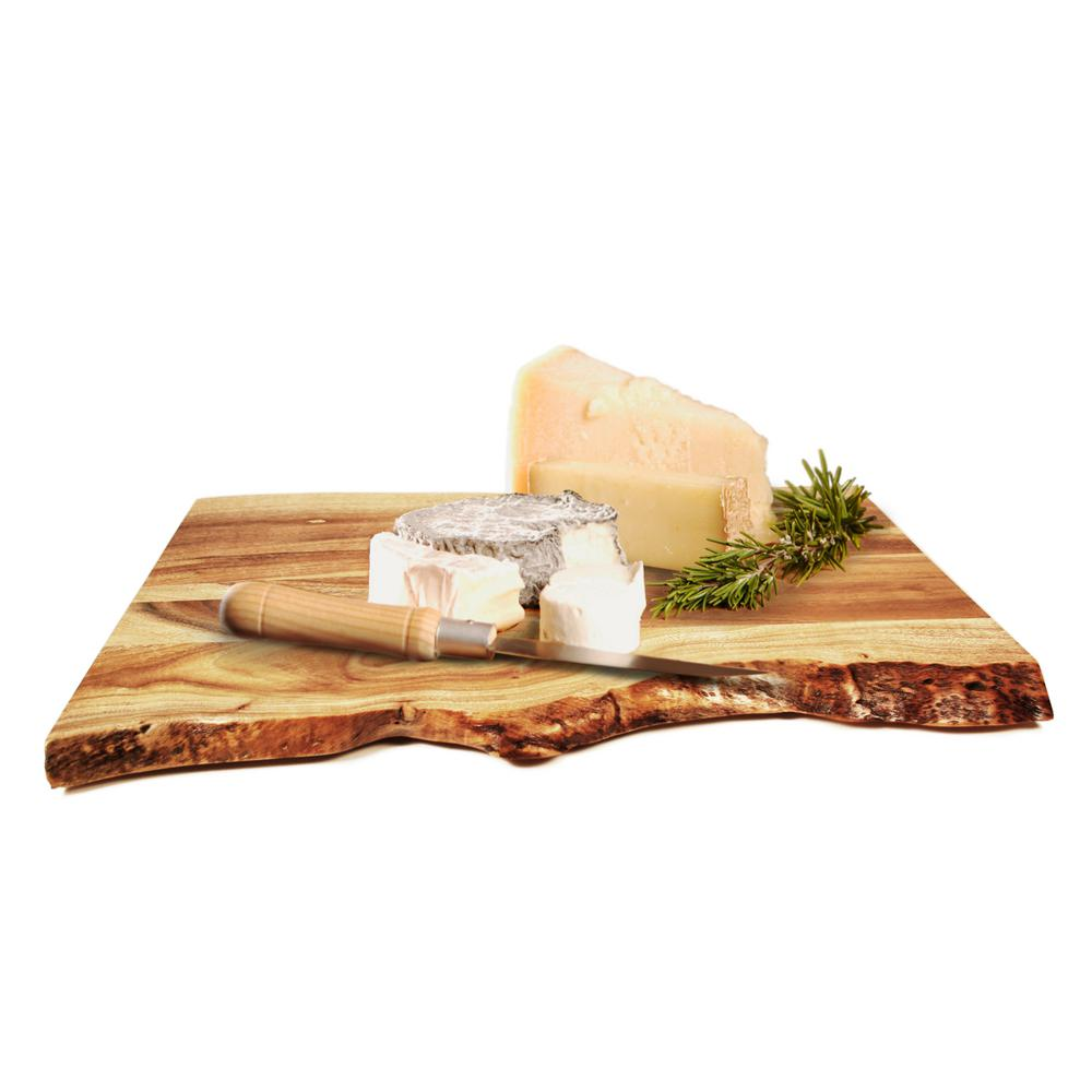 Gripperwood Barebaord Raw Edge Acacia Cutting Board