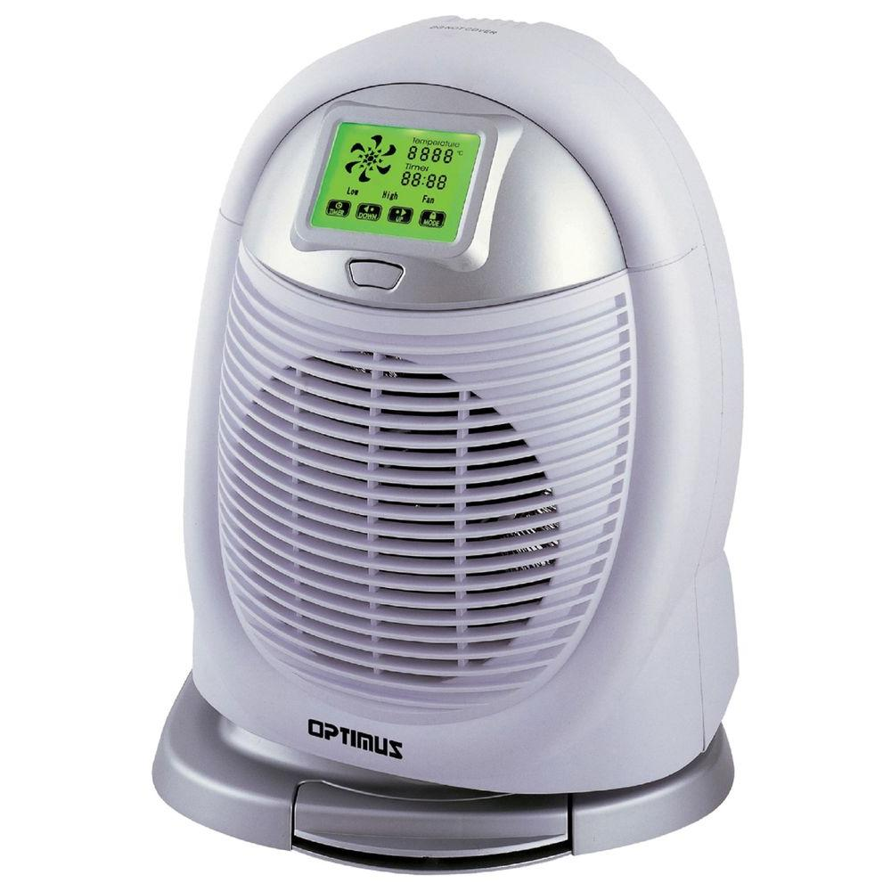 Optimus 750-Watt to 1500-Watt Digital Oscillating Fan Heater with Touch Screen LC