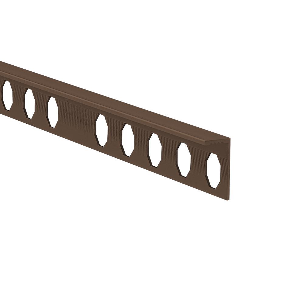 Novosuelo Bronze 1/2 in. x 98-1/2 in. Aluminum Tile Edging Trim