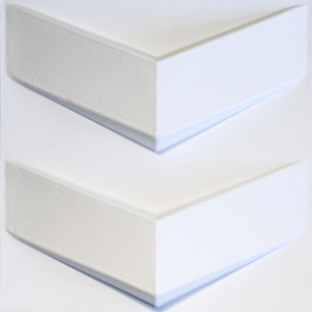 Mio Chevron White Geometric Strippable Wallpaper Chv 02