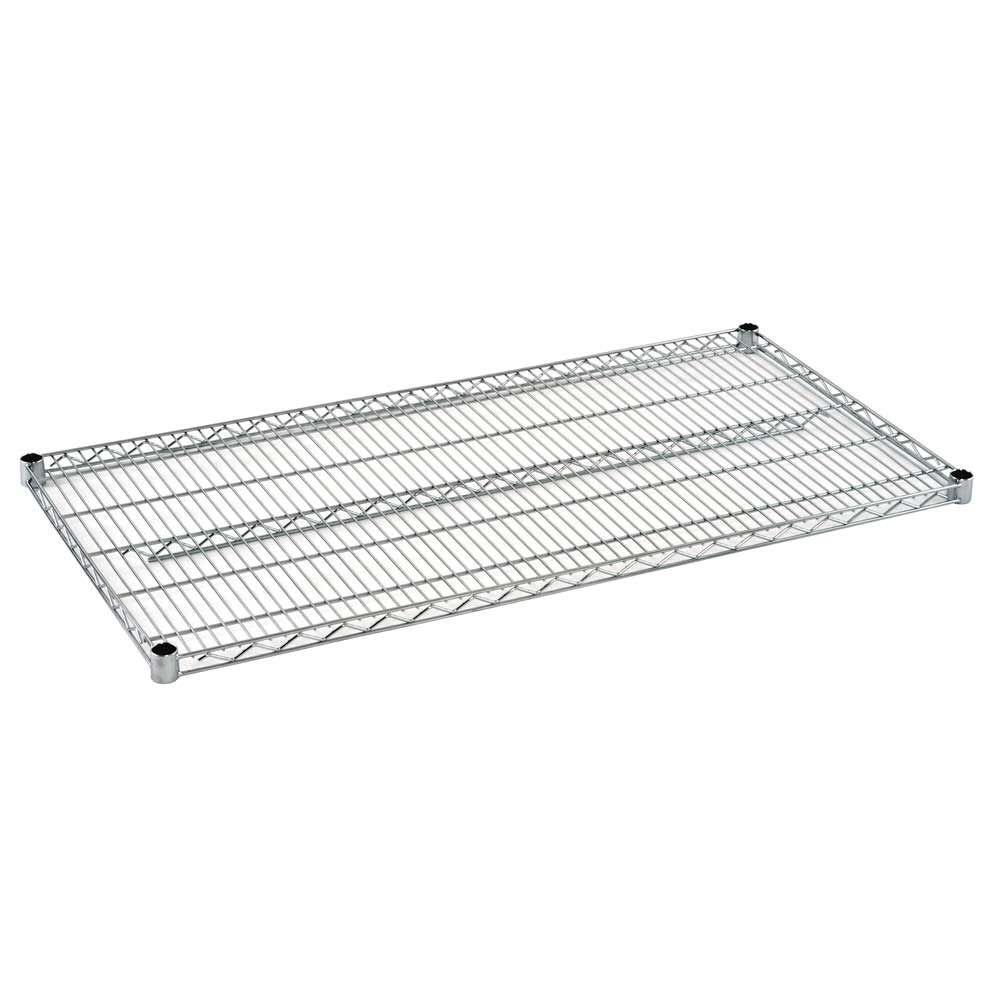 2 in. H x 48 in. W x 24 in. D Steel Wire Shelf in Chrome