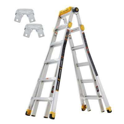 23 ft. Reach MPXT Multi-Position Ladder with Project Top/Rail Bracket Kit (Combo-Pack)