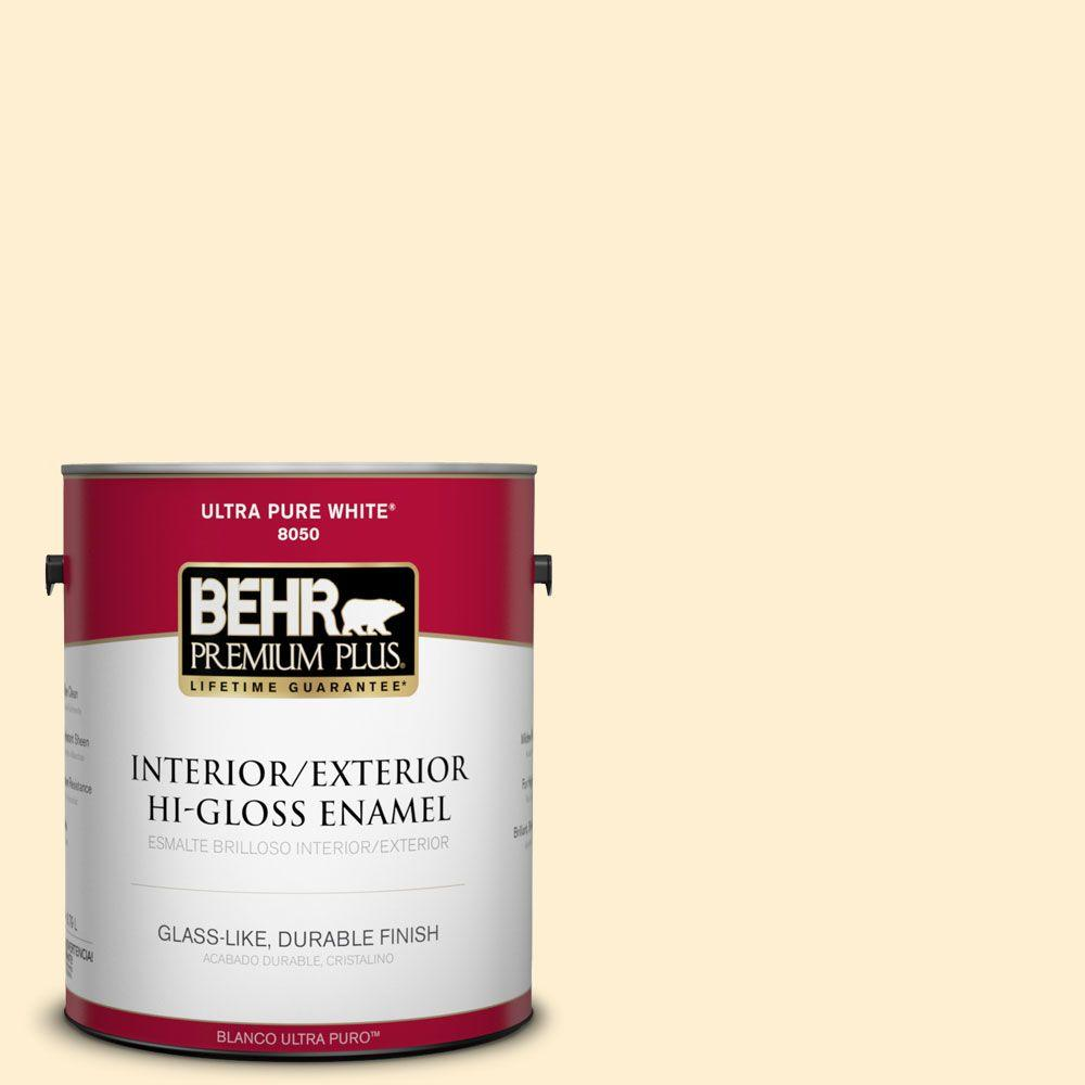 1-gal. #350A-2 Vanilla Milkshake Hi-Gloss Enamel Interior/Exterior Paint