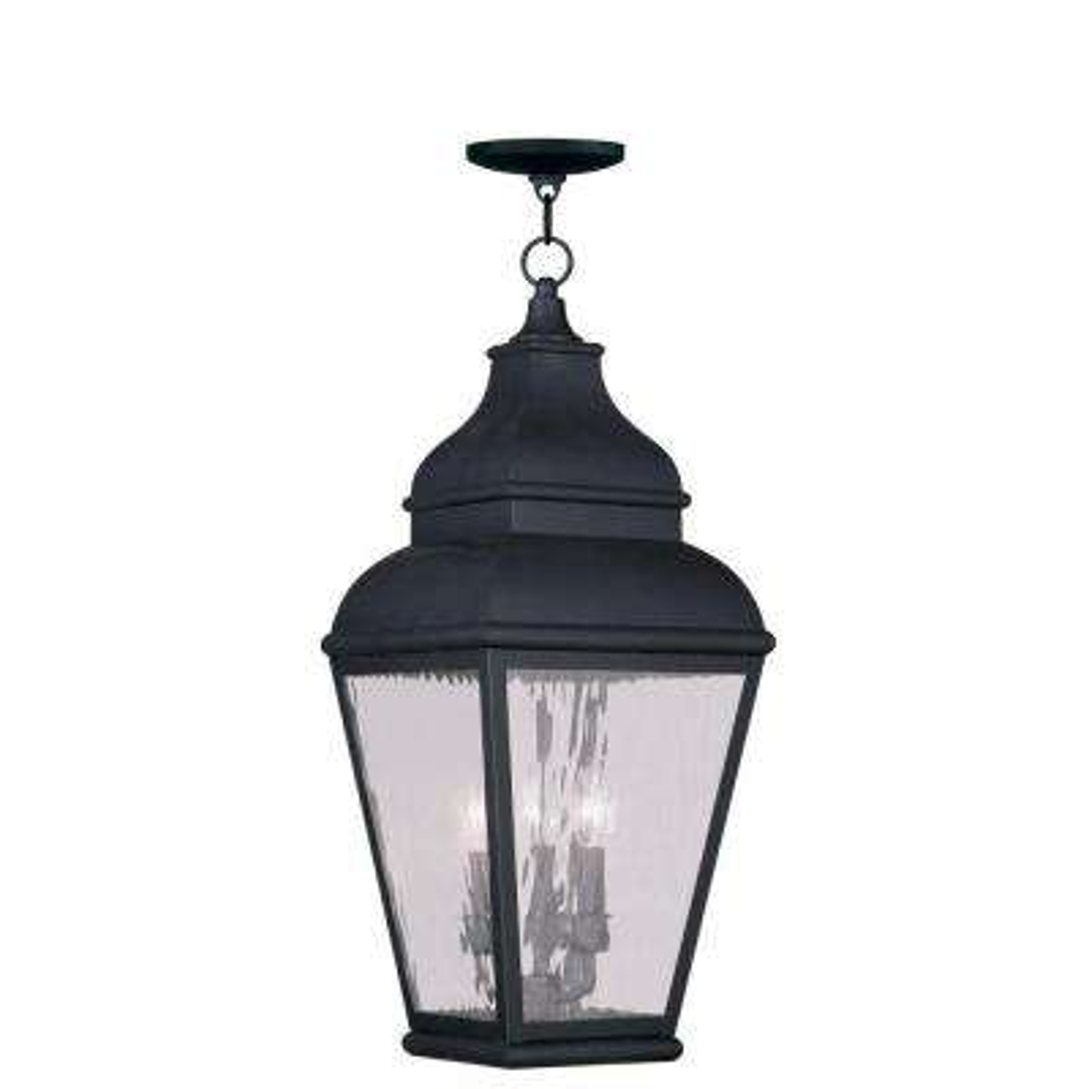 Providence 3-Light Vintage Pewter Outdoor Incandescent Hanging Lantern