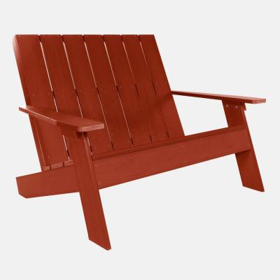 Barcelona Double Wide Modern Rustic Red Plastic Adirondack Chair