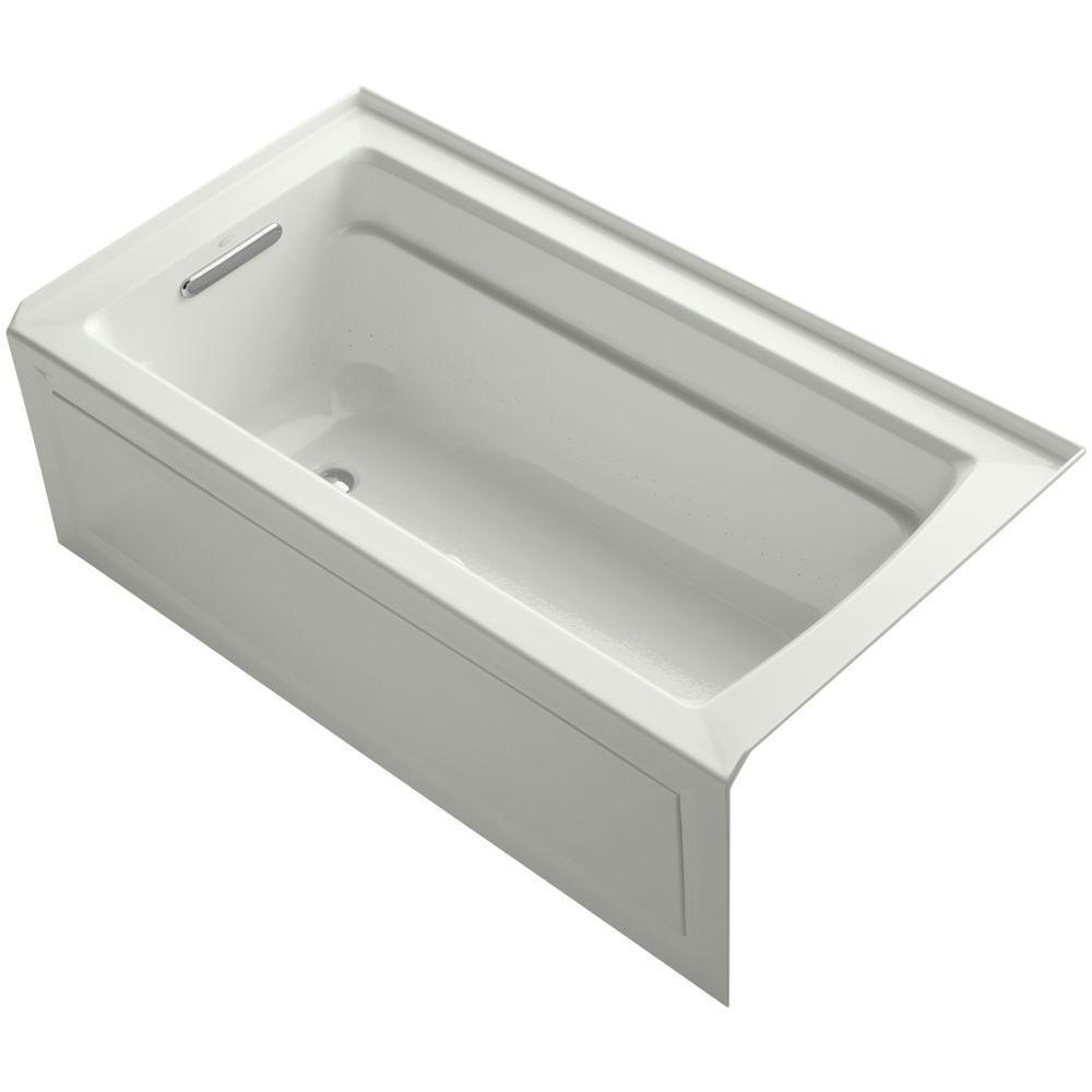 Archer 5 ft. Acrylic Left Drain Rectangular Alcove Whirlpool Bathtub in