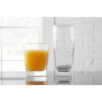 StyleWell 16 fl. oz. and 13 fl. oz. Glass Tumblers (Set of 16)