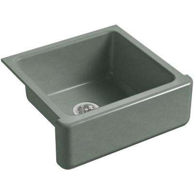 Whitehaven Farmhouse Apron-Front Cast Iron 24 in. Single Basin Kitchen Sink in Basalt