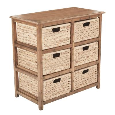 Sheridan Distressed Toffee 6-Drawer Storage