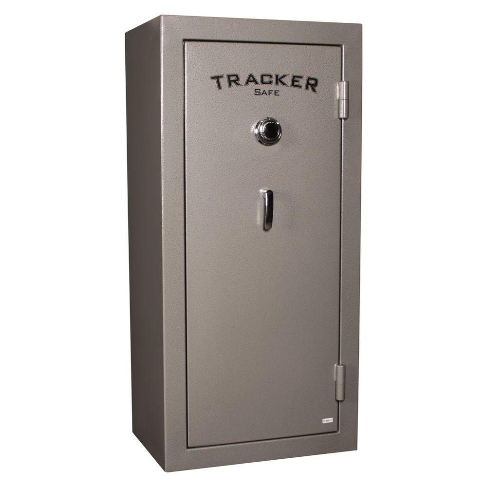 Tracker Safe 22-Gun Fire-Resistant Combination Gun Safe, Gray