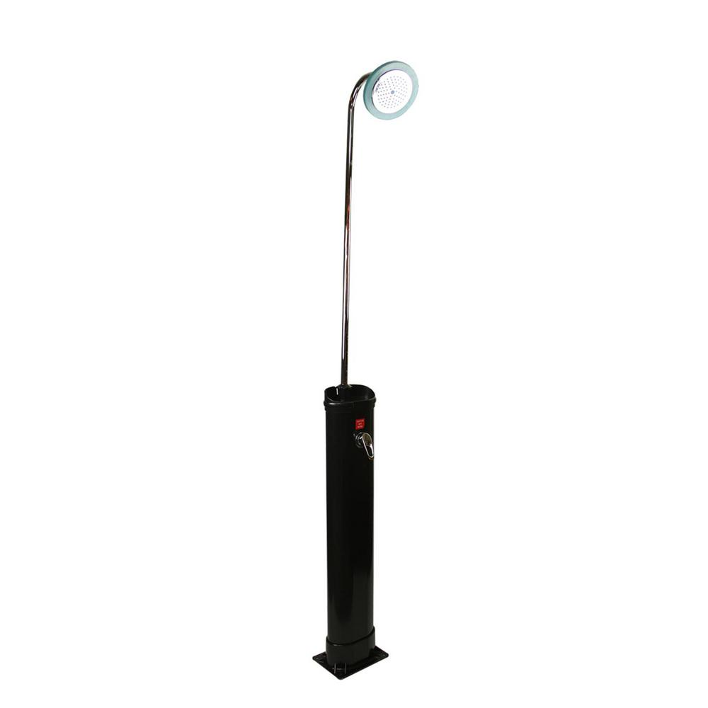 18 l 85 in. LED Lighted Eco-Friendly Solar-Powered Poolside Shower Station