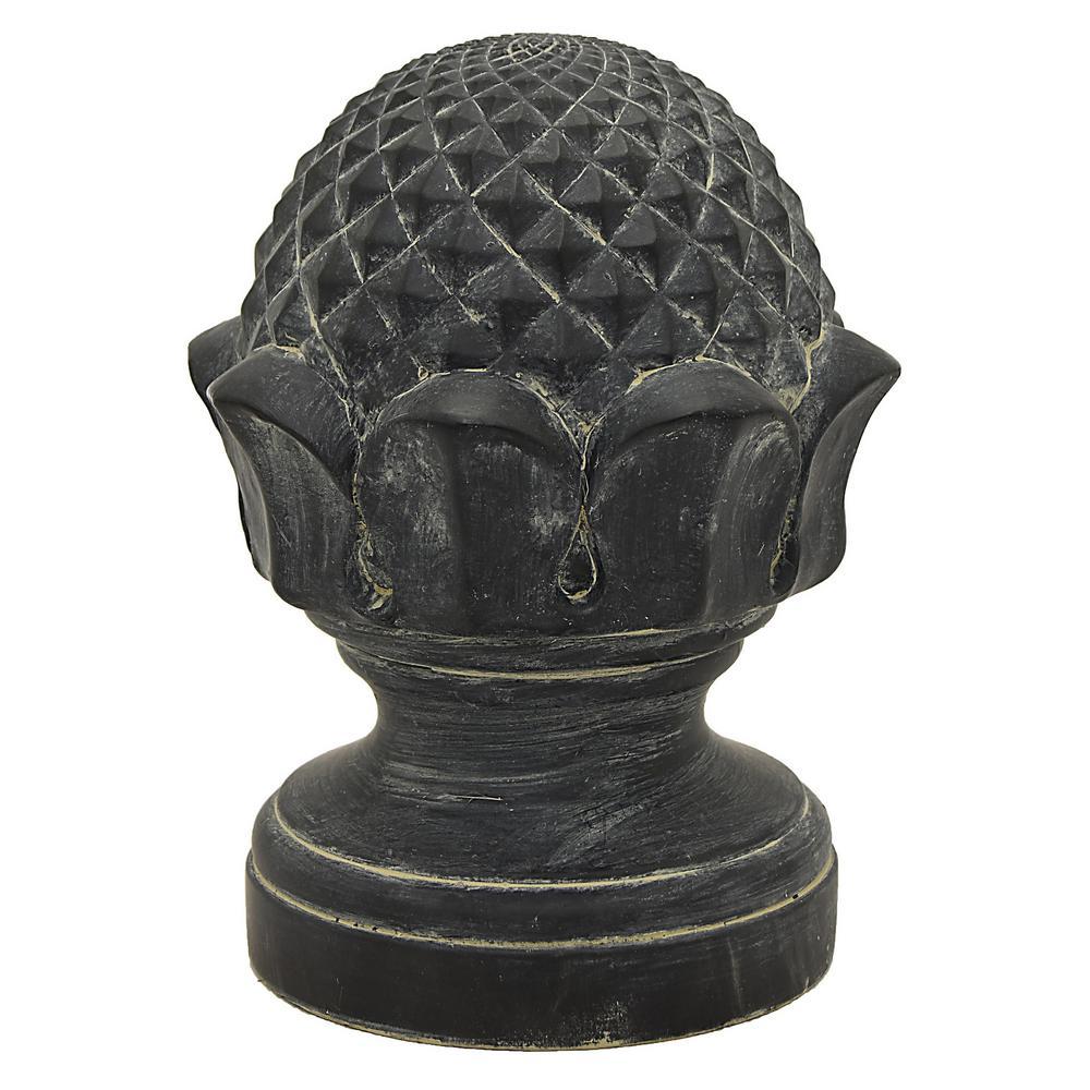 11 in. Terracotta Artichoke Finished in Black