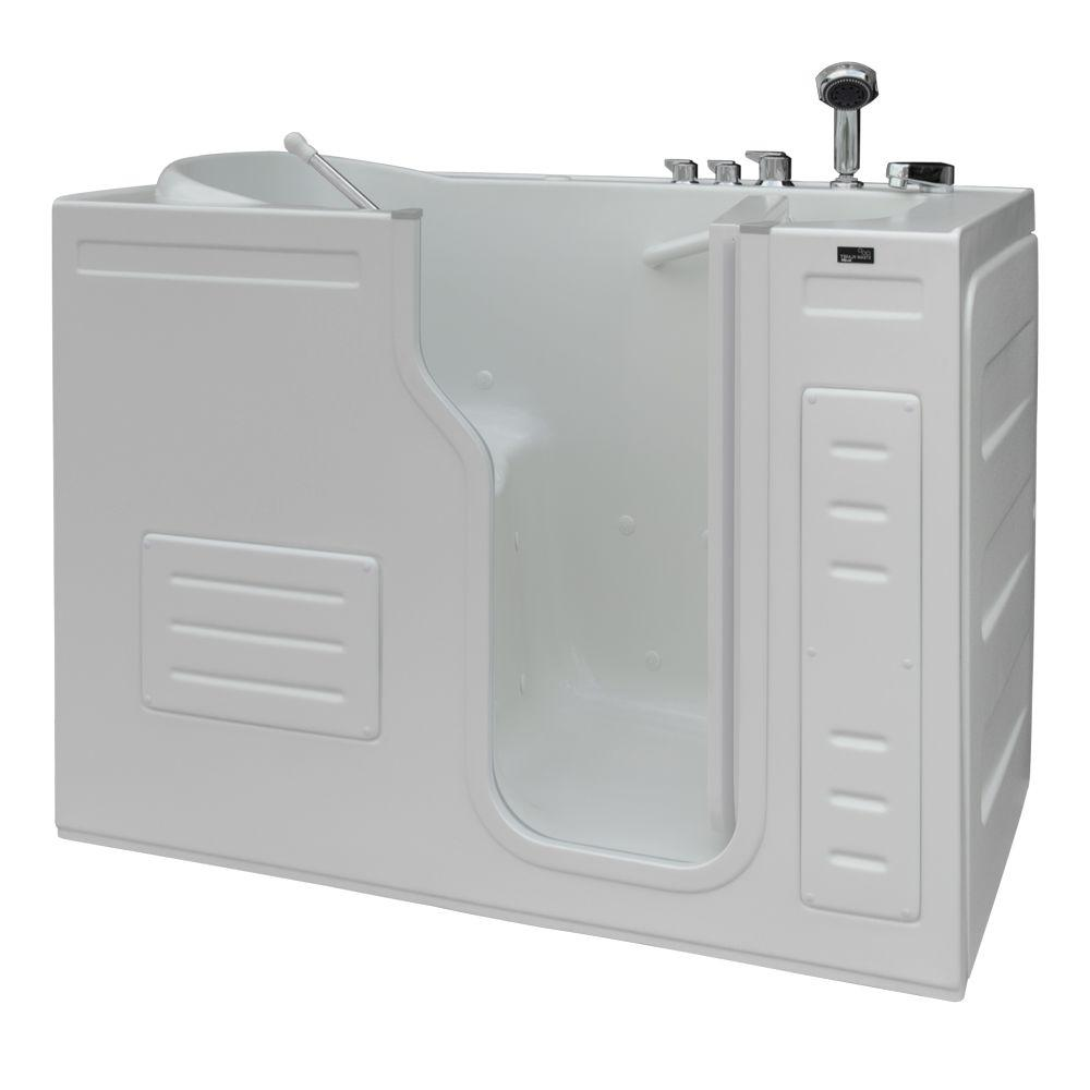 Aurora 4.27 ft. Right Drain Walk-In Heated Air Bath Tub in