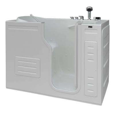 Aurora 4.27 ft. Right Drain Walk-In Heated Air Bath Tub in White