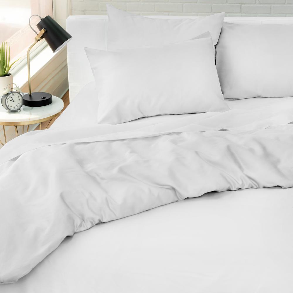 The Kensington Cotton White Full/Queen Duvet Set