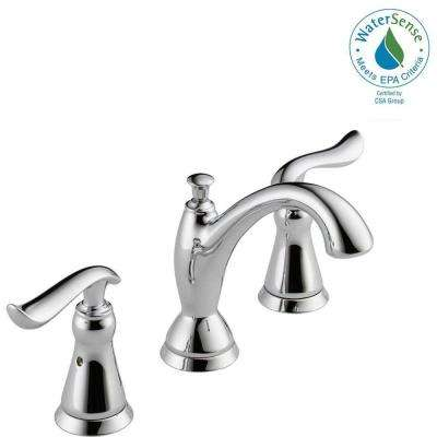 Linden 8 in. Widespread 2-Handle Bathroom Faucet with Metal Drain Assembly in Chrome