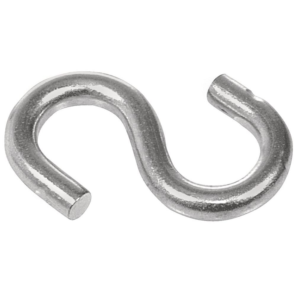 Hillman 20 lb. 3/16 in. x 1-1/2 in. Stainless-Steel Double S-Hooks (2-Pack)