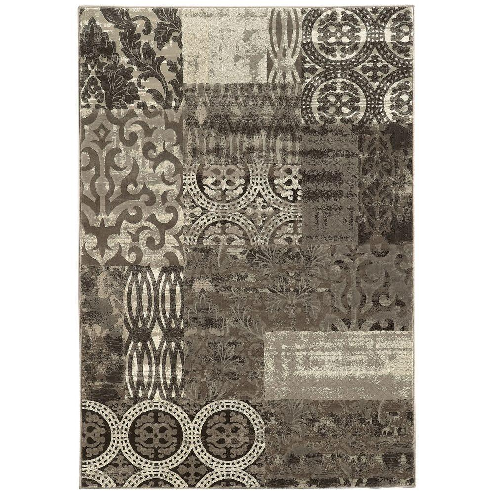 Linon Home Decor Jewel Collection Black 2 ft. x 3 ft. Indoor Area Rug