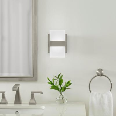 Alberson 5 in. Brushed Nickel 2-Light LED Sconce