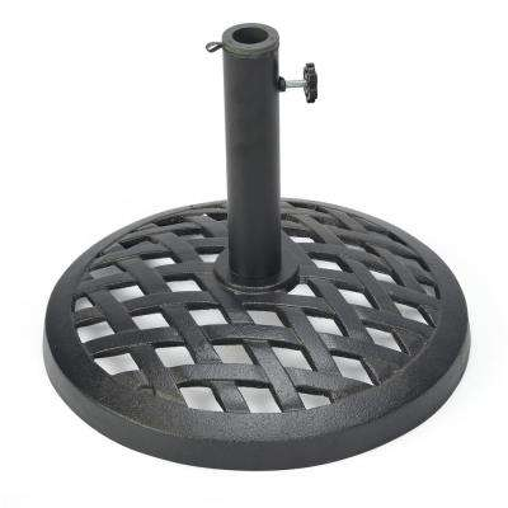 17.5 in. Cast Iron Patio Umbrella Base (Black)