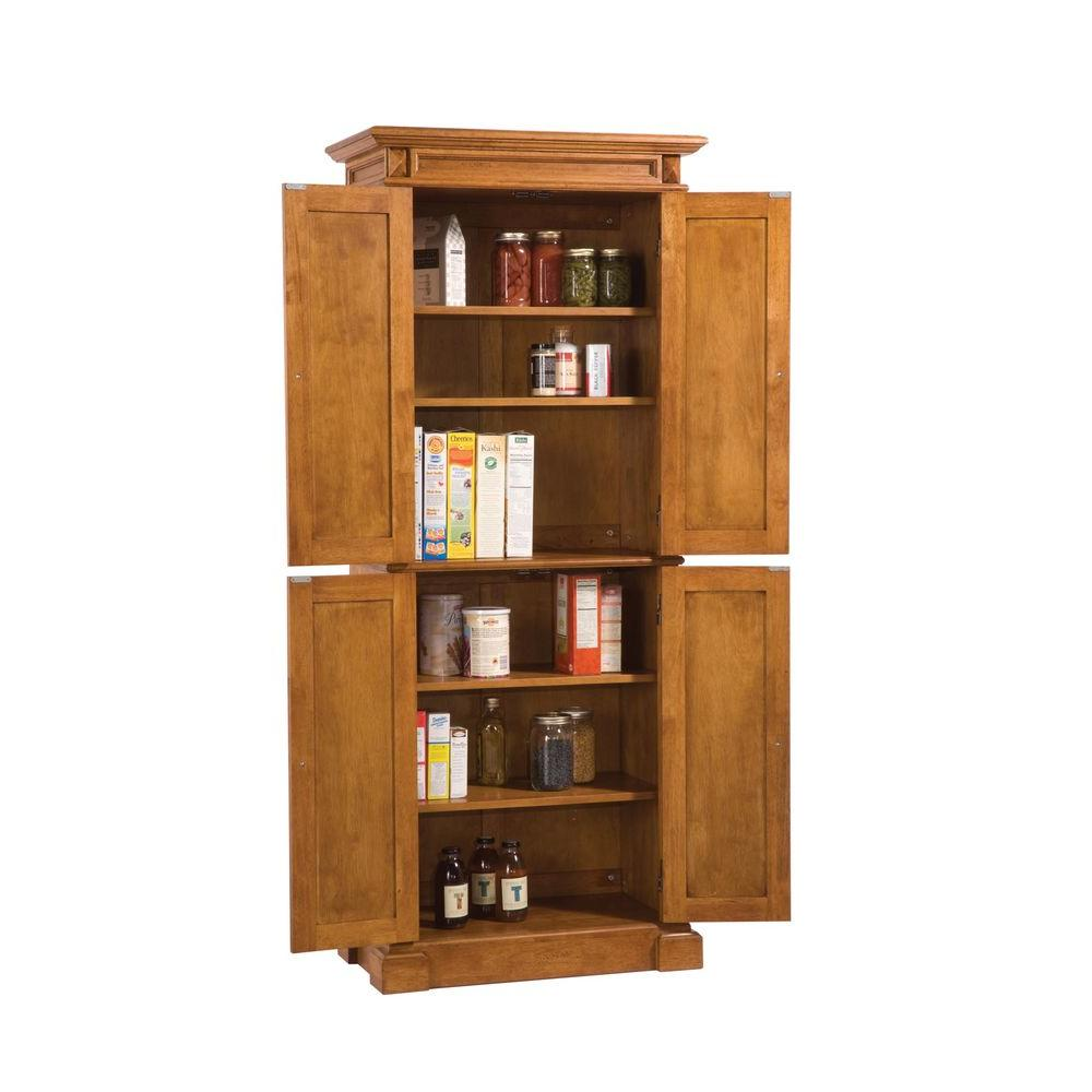 HOMESTYLES Distressed Oak Pantry 5004-69 - The Home Depot