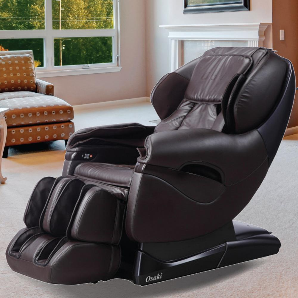 Superbe TITAN Pro Series Brown Faux Leather Reclining Massage Chair