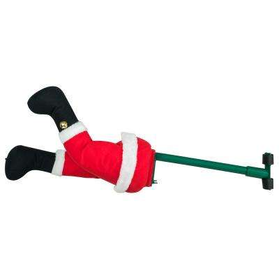 16 in. Indoor Animated Santa Christmas Kickers