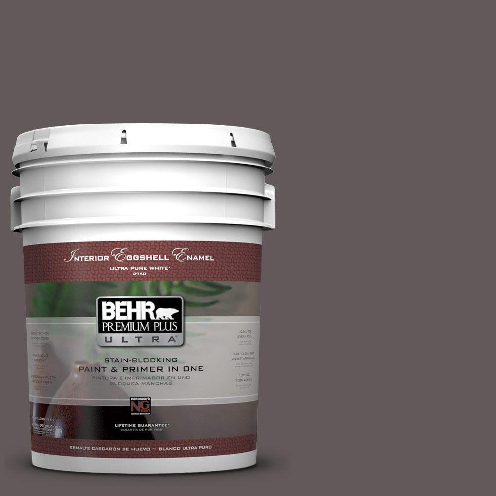 BEHR Premium Plus Ultra 5-gal. #T14-10 Coffee Bar Eggshell Enamel Interior Paint