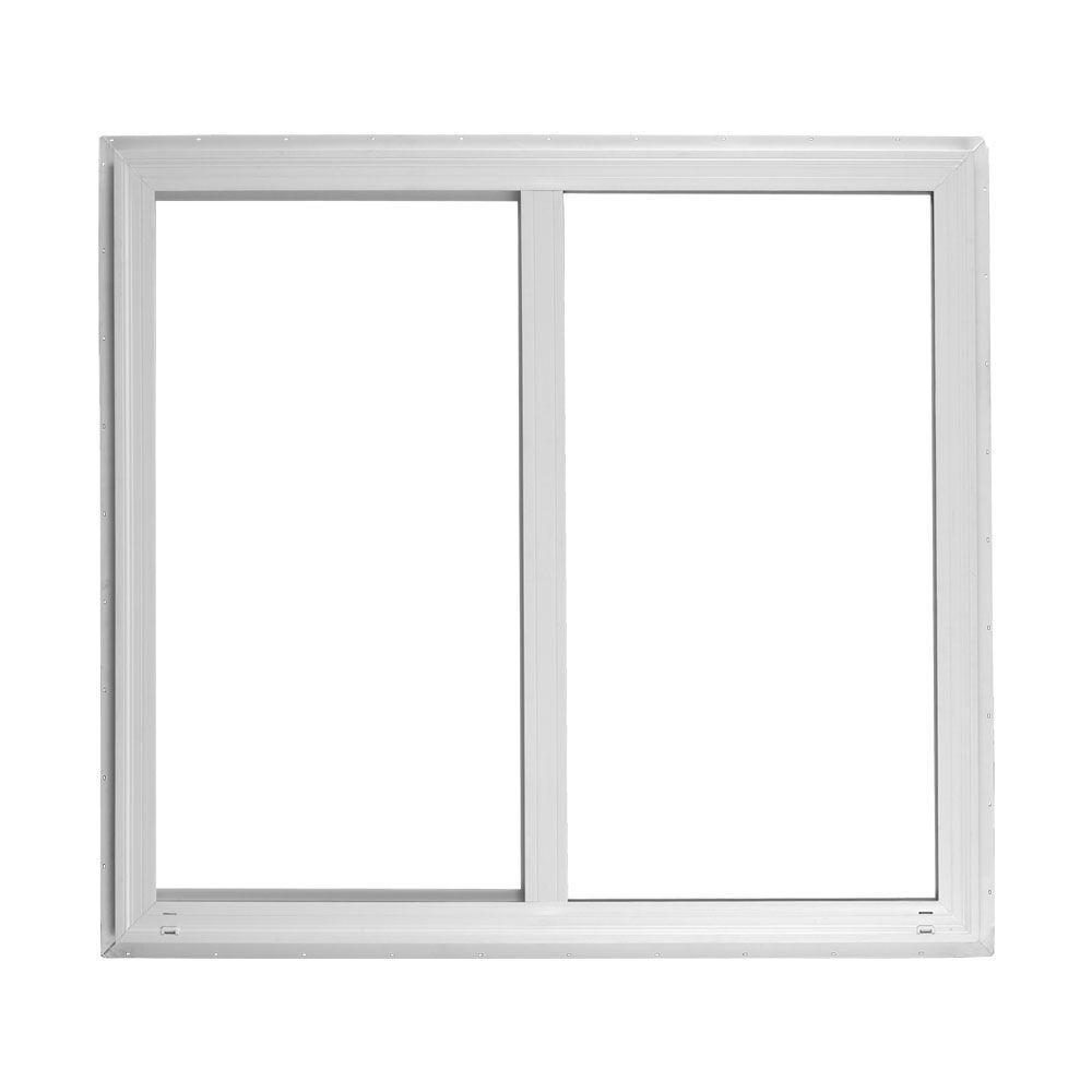 Ply Gem 59 5 In X 47 5 In Left Hand Horizontal Sliding Vinyl Window White 520 The Home Depot