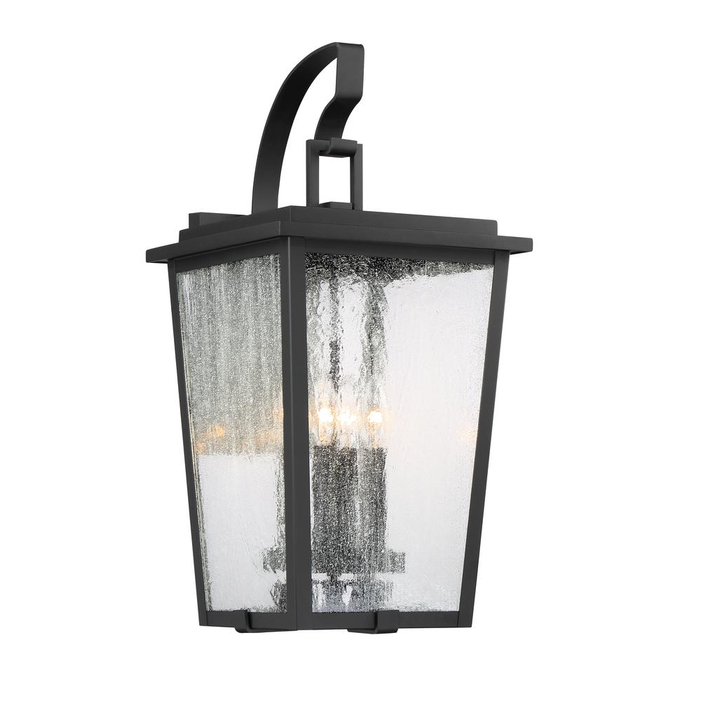Minka Lavery Cantebury Large 4 Light Sand Black With Gold Outdoor Sconce