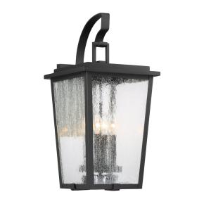 Cantebury Large 4-Light Sand Black with Gold Outdoor Light Sconce