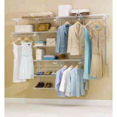 48 in. D x 96 in. W x 2 in. H Configurations Custom Metal Closet System 4 - 8 ft. White Deluxe Kit