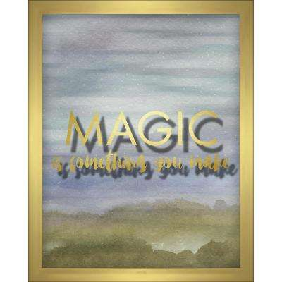 Magic Is Something You Make- Blue 8 in. x 10 in. Shadowbox Wall Art