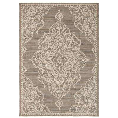 Cecil Taupe 2 ft. x 4 ft. Indoor/Outdoor Area Rug