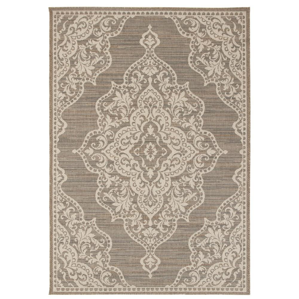 Home Decorators Collection Cecil Taupe 5 Ft 10 In X 9 Ft 2 In Indoor Outdoor Area Rug