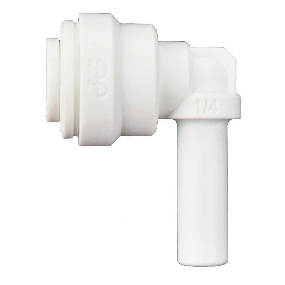1/4 in. x 1/4 in. Polypropylene 90-Degree Push-to-Connect Plug-In Elbow