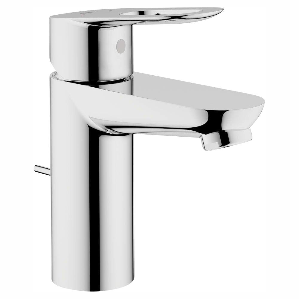 GROHE BauLoop Single Handle Bathroom Faucet in StarLight Chrome with Pop-Up Drain