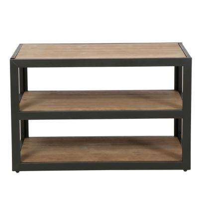 Dark Oak Brown 3-Tier Etagere Shelf