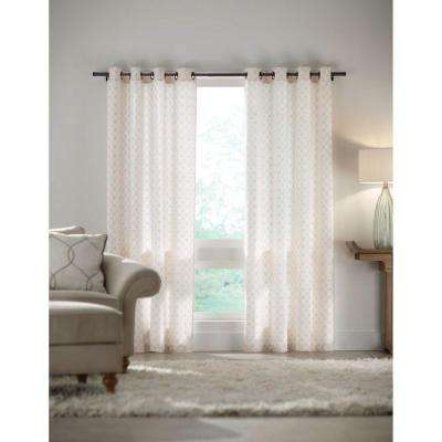 Semi Opaque White Grommet Curtain   52 In. W X 84 In. L