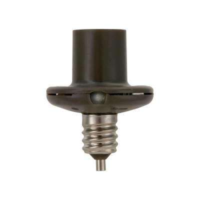 40-Watt Candelabra Dusk to Dawn Screw-In Light Control, Black (3-Pack)