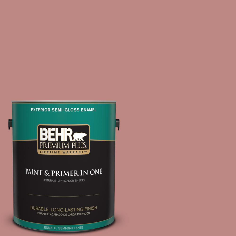 BEHR Premium Plus 1-gal. #S150-4 Red Clover Semi-Gloss Enamel Exterior Paint