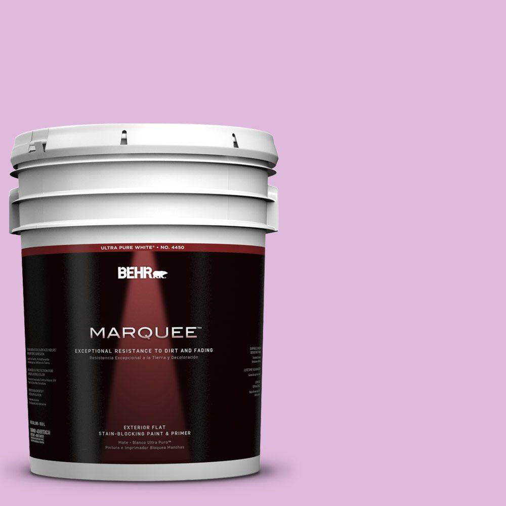 5-gal. #670A-3 Posies Flat Exterior Paint