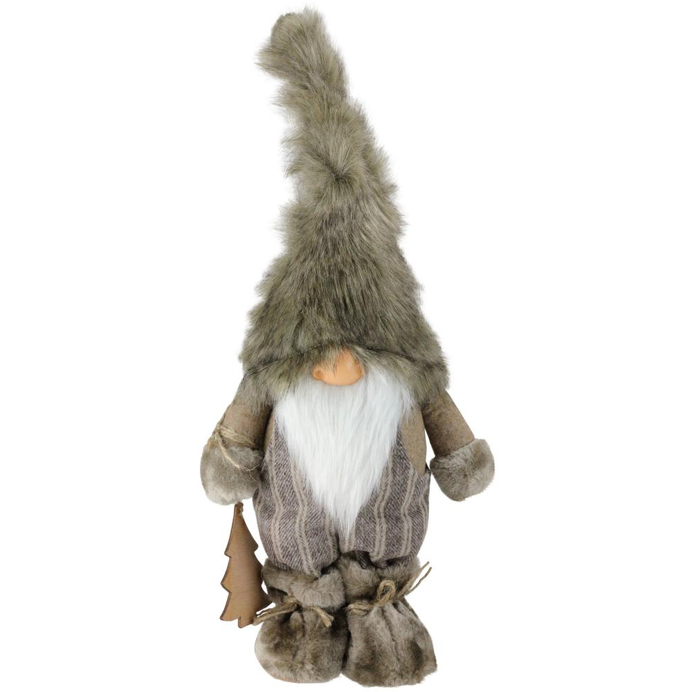 Christmas Gnome Decor.Northlight 16 In Nature S Luxury Decorative Christmas Gnome With Ornament Tabletop Figure