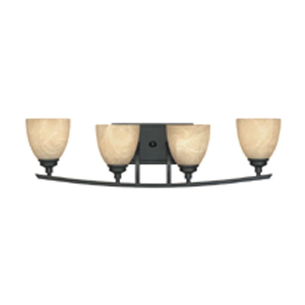 Designers Fountain Tackwood 4-Light Burnished Bronze Wall Light