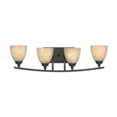 Tackwood 4-Light Burnished Bronze Wall Light